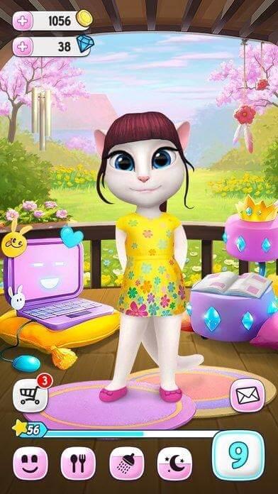 my talking angela virtual pet game